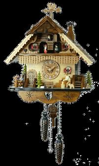 風見鶏の山小屋鳩時計「木こりのお仕事」