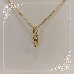 K18 ネックレス イエローゴールド ダイヤモンド
